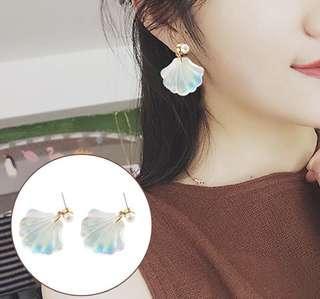Pear Shell Stud Earrings