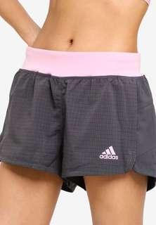 Adidas pink grey 2-in-1 shorts size 38 / M