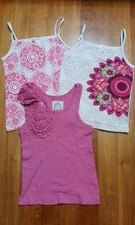 🚚 Desigual and Gingersnaps tank tops for girls 9 to 10 yrs