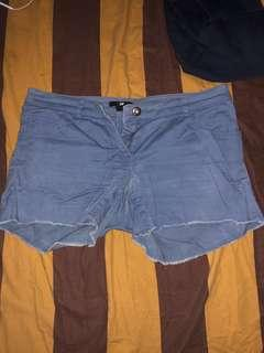 H&M blue jeans denim shorts/ celana pendek