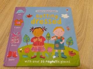 "Usborne Magnet Book ""Getting Dress"" 兒童早教硬皮書"