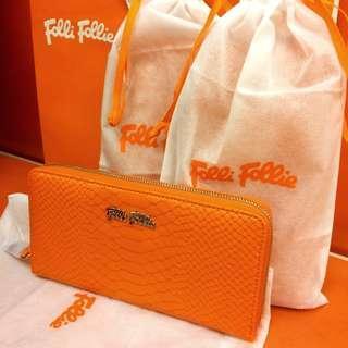[New] 全新 Folli Follie K Vintage 橙色長銀包 禮物之選 #newbieApr19