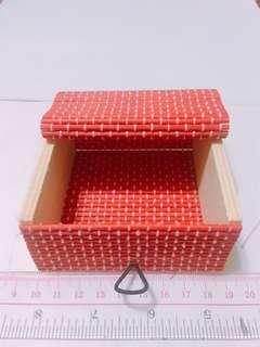 木制小盒子 紅色