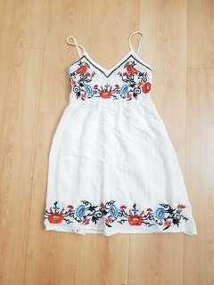 BN Korean Ulzzang Floral Embroidery Dress