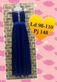 Long Dress biru