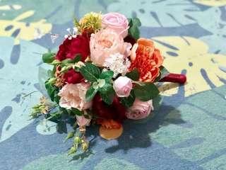 婚禮絲花花球 連 同款新郎襟花
