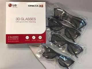 🈹$70 [💯New] 4 pieces of LG 3D glasses