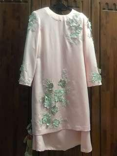 Baju Kurung Moden with 3D flowers(Tailor Made)