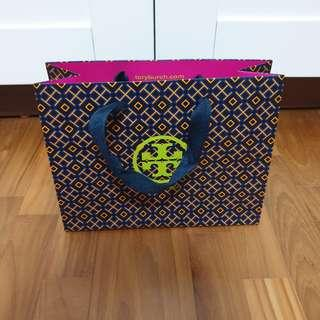 Tory Burch Brand / Branded Small Paper Bag / Carrier