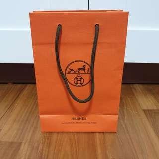 Hermes Brand / Branded Small Paper Bag / Carrier