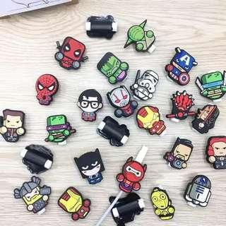 Superheroes Marvel cable protector for iPhone and Android