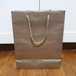 Bvlgari Brand / Branded Paper Bag / Carrier