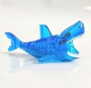 Transparent Blue Shark - Lego Compatible Minifigure