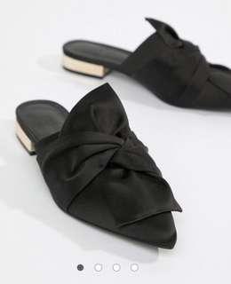 Brand New Asos design knot bow mules - Black UK6