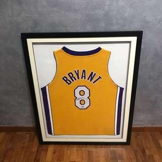 outlet store 1702d a5dbc (RARE) Framed and Signed Kobe Bryant Lakers Jersey