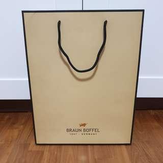 Braun Buffel Brand / Branded Large Paper Bag / Carrier
