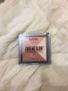 NYX Away We Glow Bronzer/Blush/Highlight