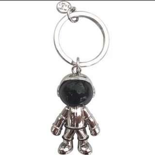 🚚 Agnes B Signature Astronaut Spaceman Bag Charm/ Key Chain in Silver