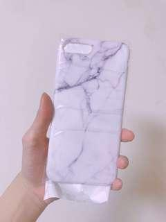 🚚 Iphone7plus iphone8plus 白色氣質大理石手機軟殼加全屏貼膜