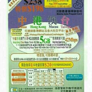 china data sim card 大陸電話卡