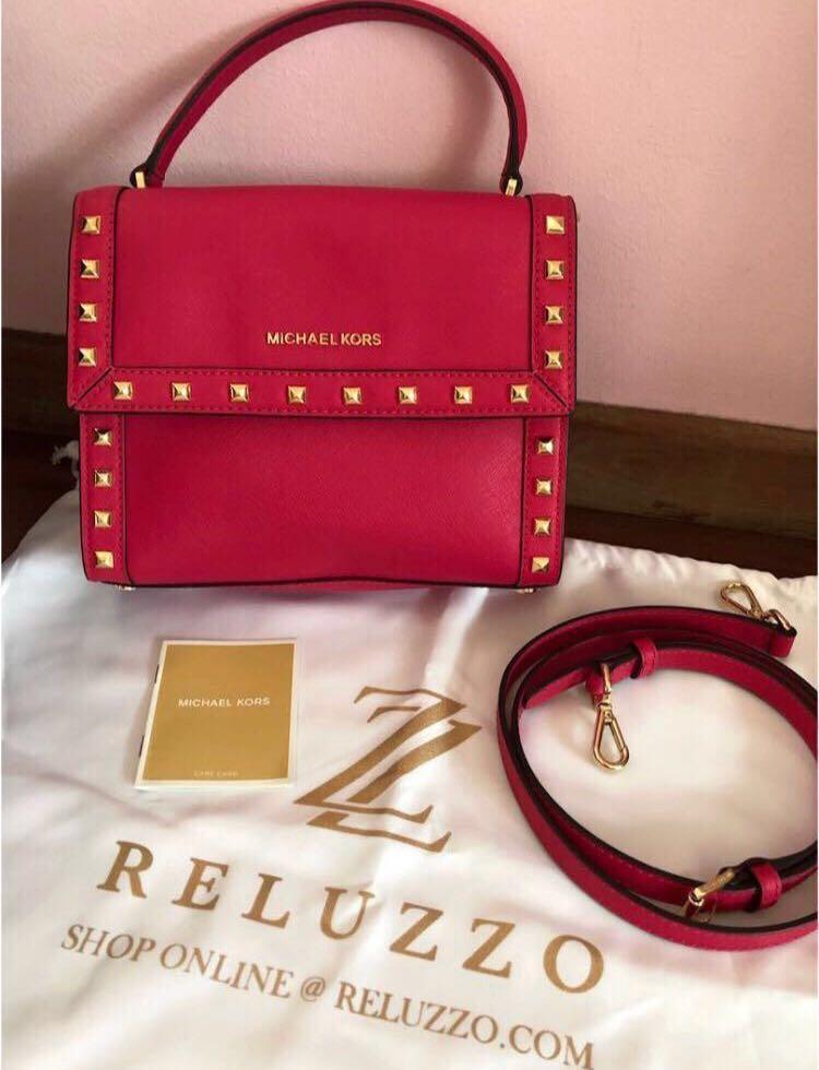 aa832e744bf0 60% off Sale~Used once Michael Kors Dillon ultra pink Bag with Studs ...