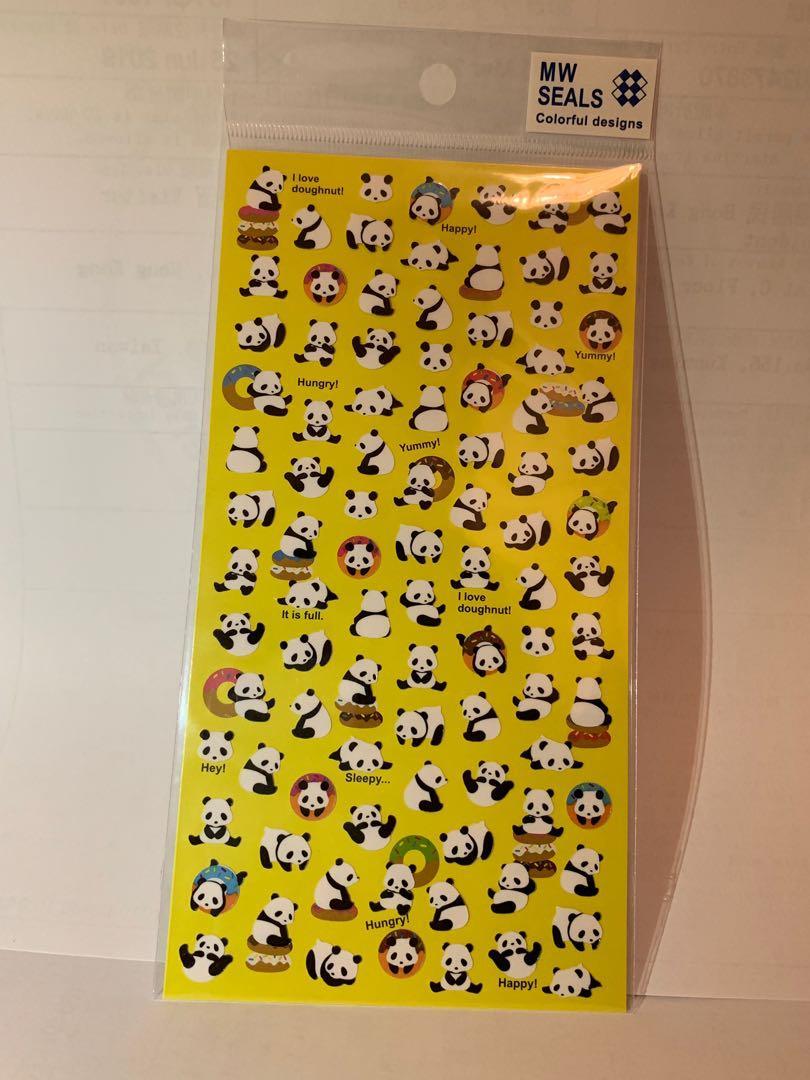 可愛熊貓貼紙