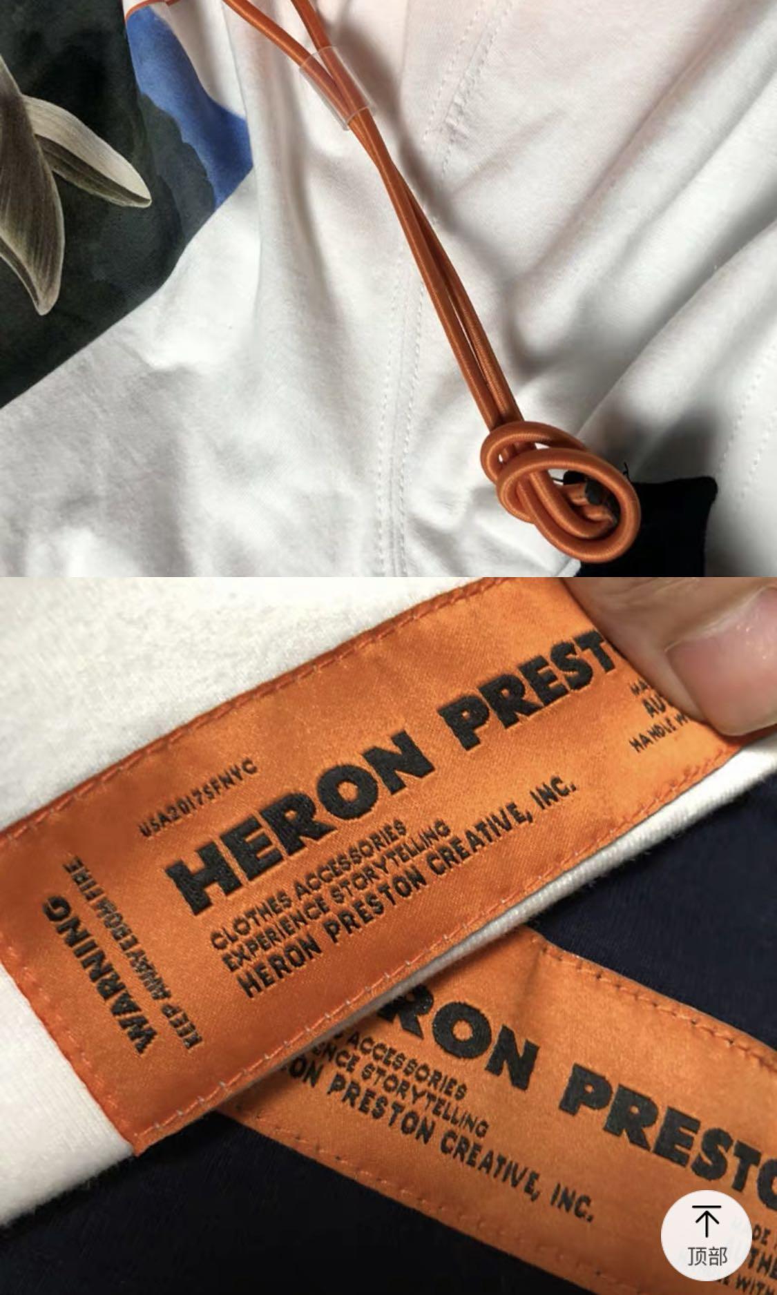 店主摯愛 Heron Preston吳亦凡同款仙鶴白鷺短袖T-shirt 情侶裝