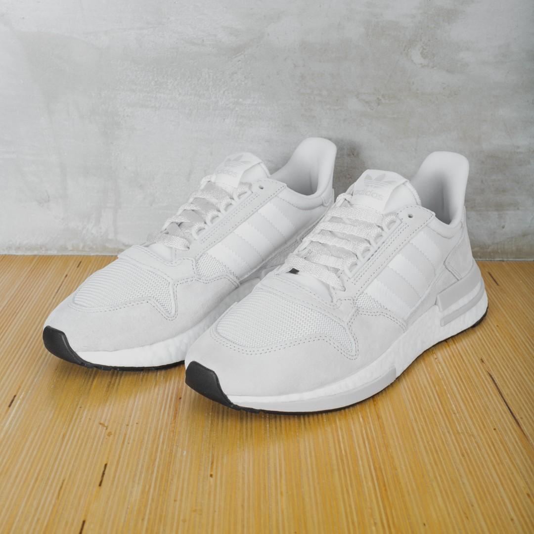 "Adidas ZX 500 ""Triple White"" Sneakers US Men's Sizes 7 8 9 10"