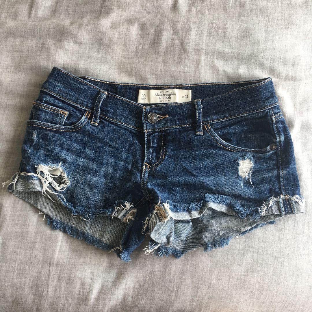 39181492 A&F low rise jean shorts, Women's Fashion, Clothes, Pants, Jeans ...