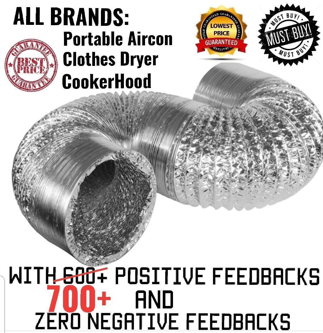 Aircon/portable aircon/vent/hose/pipe/Aluminium/dryer/cooker
