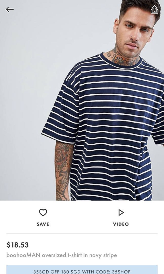571194ad6e ASOS Oversized Tee, Men's Fashion, Clothes, Tops on Carousell