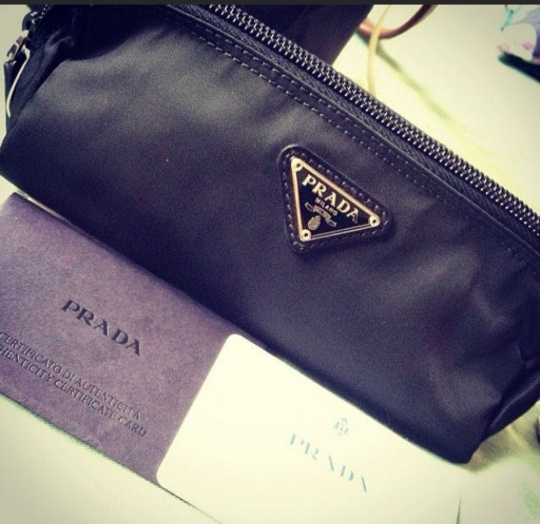 10d2664afc81 Authentic Prada Makeup Pouch, Luxury, Bags & Wallets, Others on ...