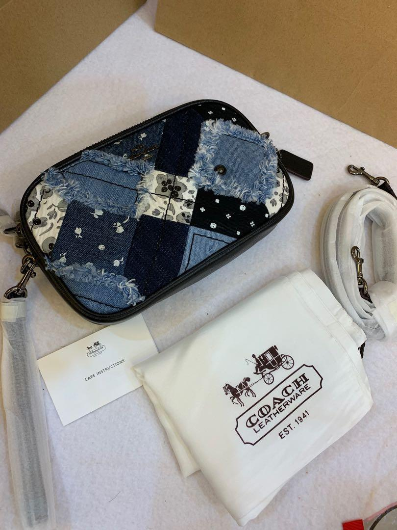 Authentic ready stock coach women mix material camera bag tea stock