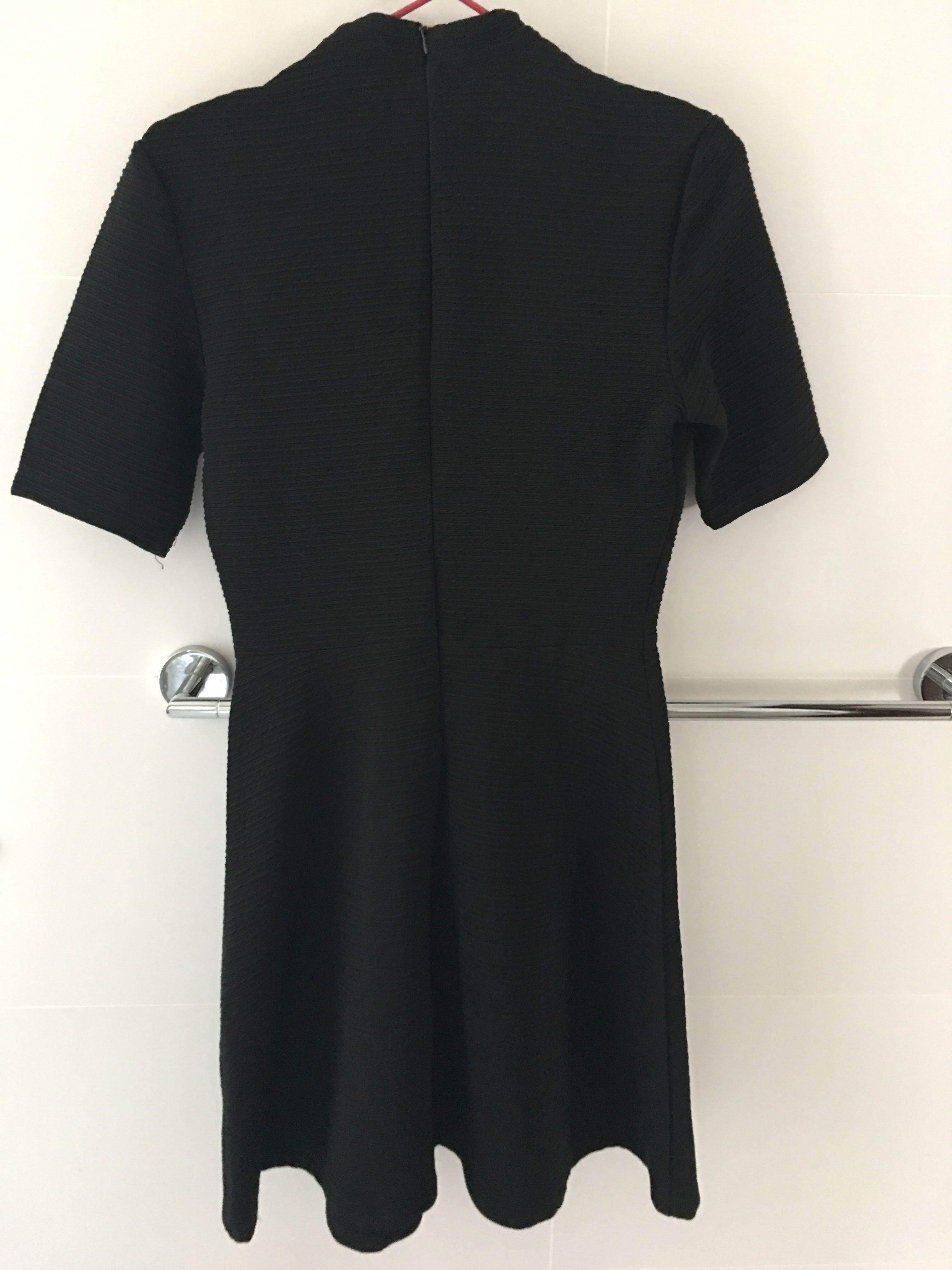 Black Dress round neck office party dress