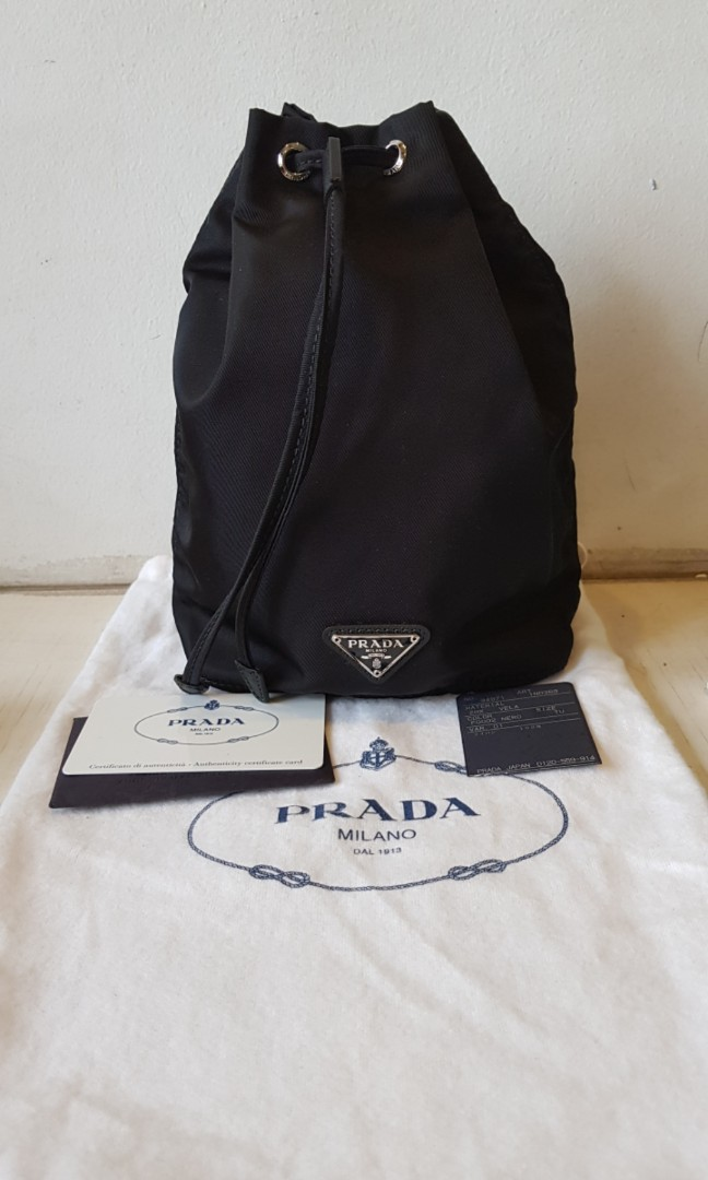 85af6a19d0f000 BN Prada Nylon Pouch, Luxury, Bags & Wallets, Others on Carousell