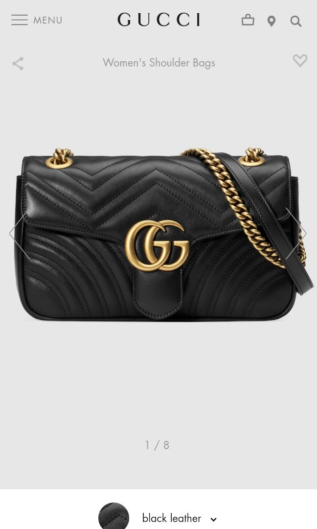 4c66660ee4b0 Brand new Gucci GG Marmont small matelassé shoulder bag., Luxury, Bags &  Wallets, Sling Bags on Carousell