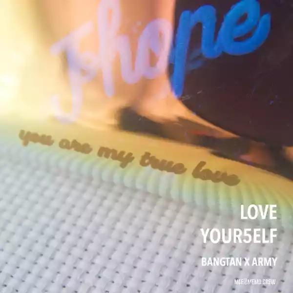 Bts love yourself x army fanmade hologram pouch bag