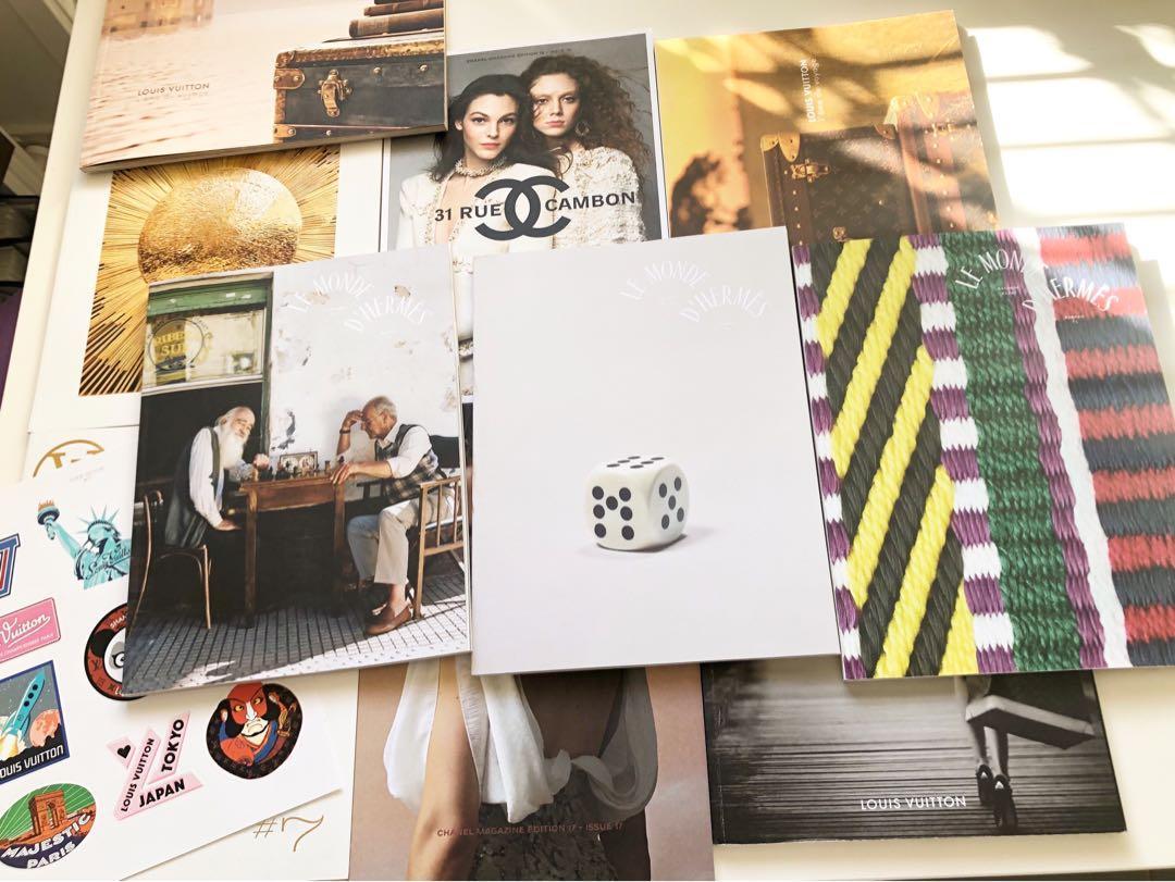 Bulk 10 2018 hermes lv Chanel magazines books catalogues