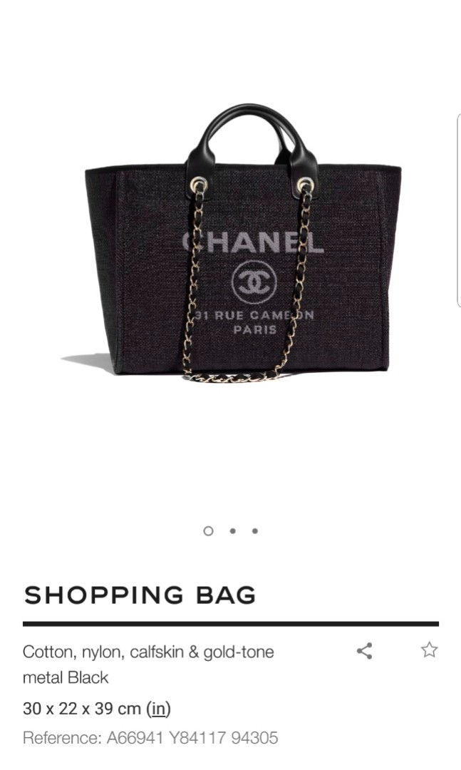 d562c17ae0d3 Chanel Deauville Large, Luxury, Bags & Wallets, Handbags on Carousell