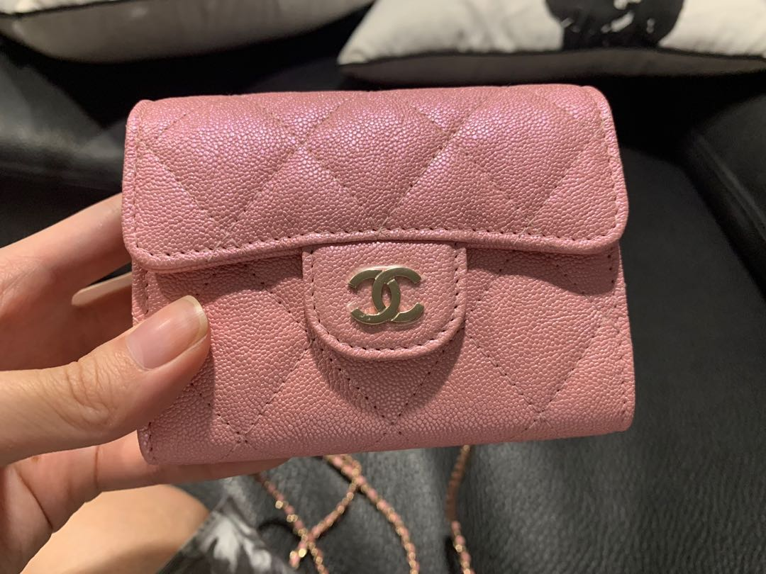 3699f5c10f Chanel iridescent 19s pink wallet on chain woc, Luxury, Bags ...