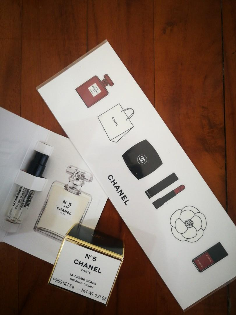 Chanel no. 5 ,1,5ml , chanel body cream and sticker