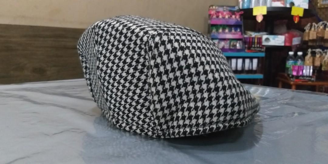 e3ecdb5f #SNAPENDGAME Checkered Hemlock Berets Hat Black/White