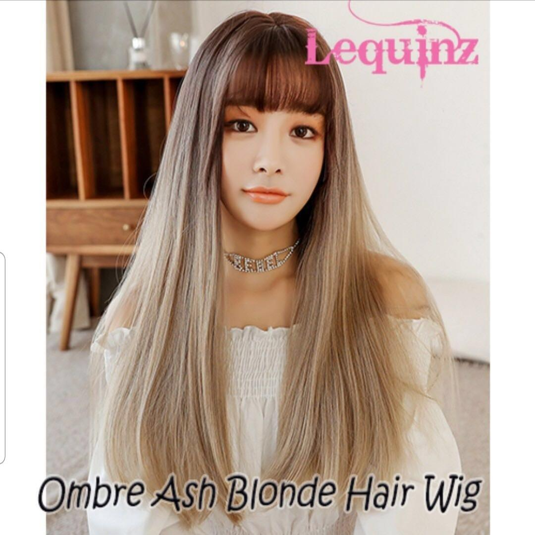 Instocks Hair Wig Air Bangs Straight Long Wig
