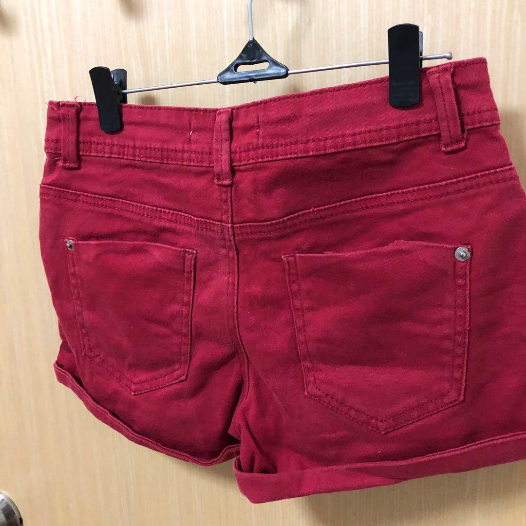 Cotton On Red Denim Shorts