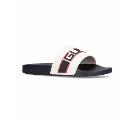 0be1e721c gucci rubber slides with logo, Men's Fashion, Footwear, Slippers ...