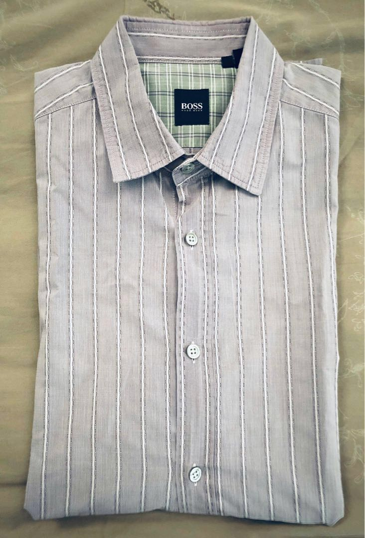 76fc1c026 Hugo Boss men's shirt, Men's Fashion, Clothes, Tops on Carousell