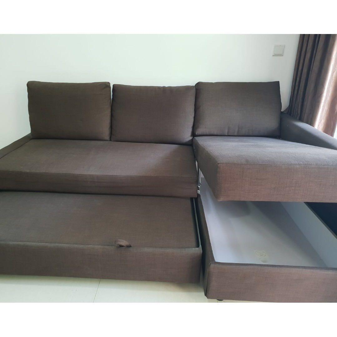 IKEA FRIHETEN corner sofa-bed with storage., Furniture ...