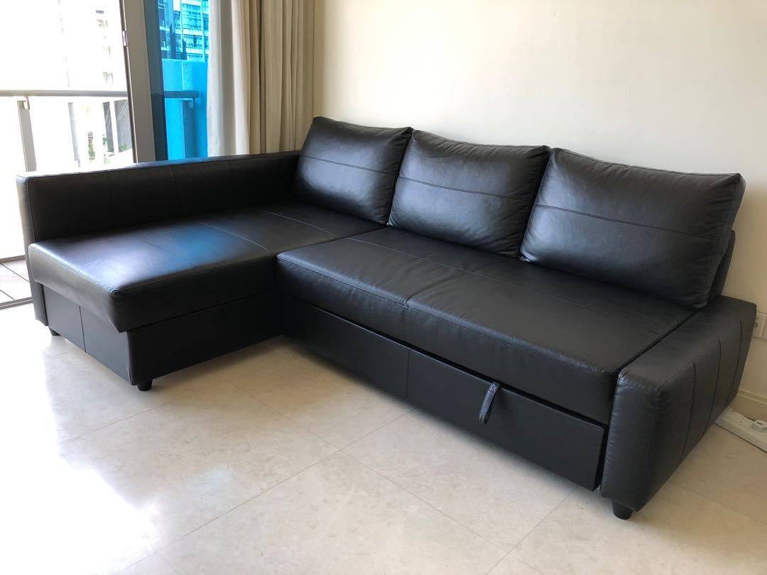 L Shape Sofa and Sofa Bed with Storage, Furniture, Sofas on ...