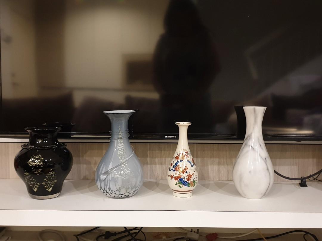 Large vintage white Marble vase