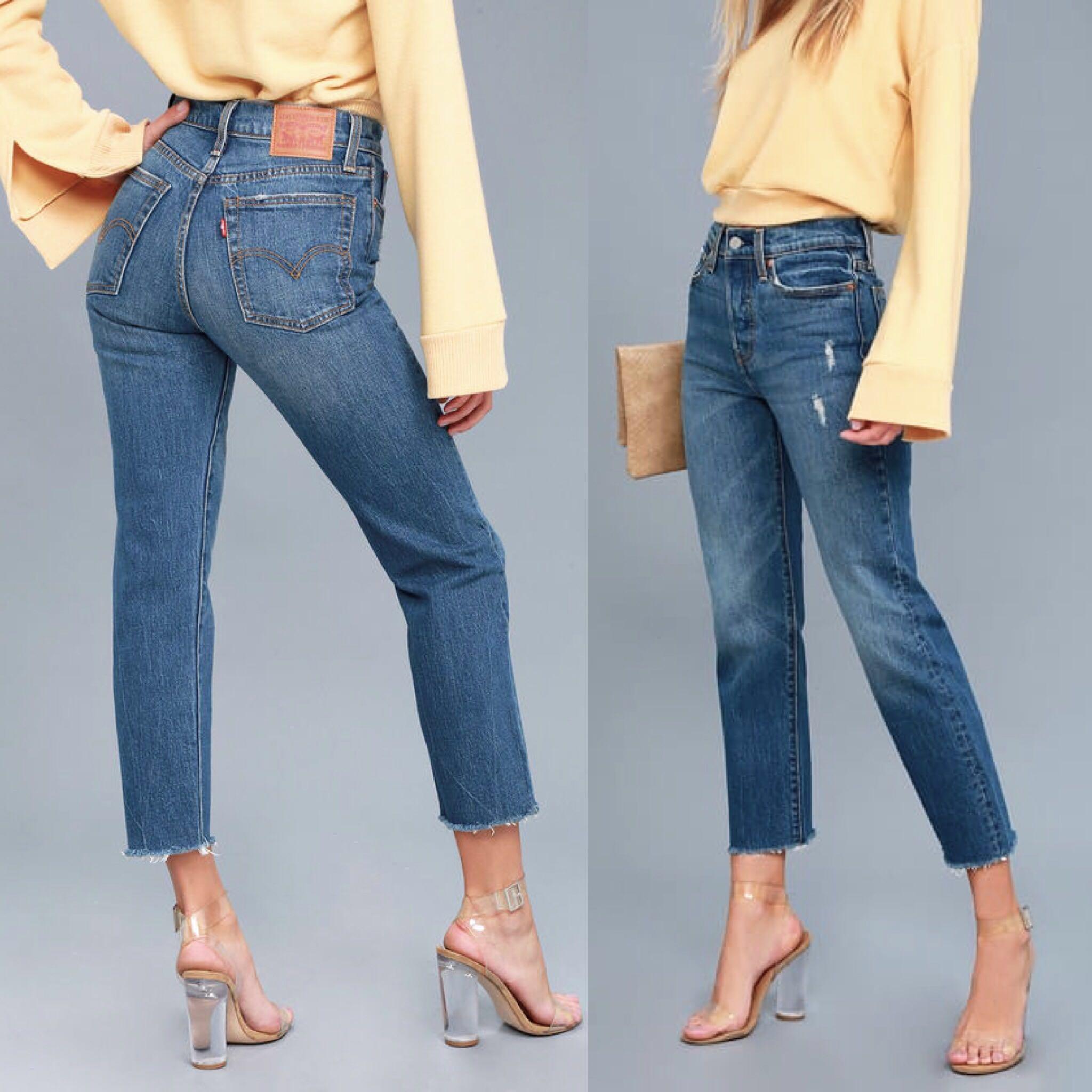 4a9cbea0b971ed Levi's Highwaist Straight Leg Wedgie Denim Jeans, Women's Fashion ...